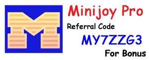 Minijoy Referral Code, Refer Code