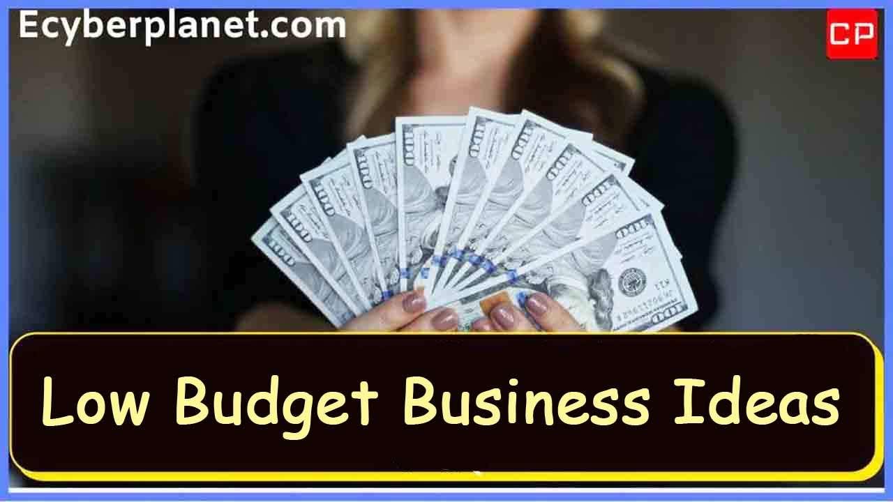 Low Budget Business Ideas