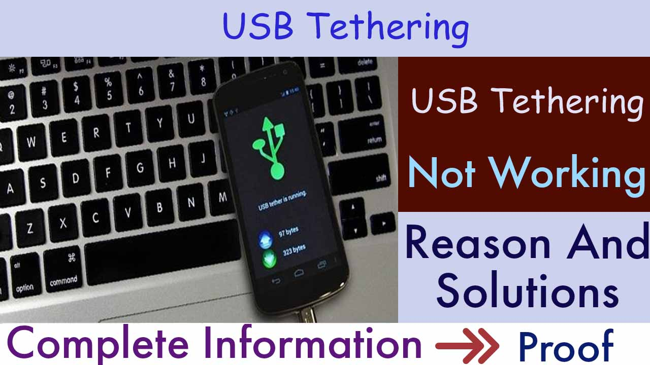USB Tethering Not working