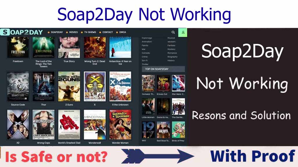 Soap2day Not Working
