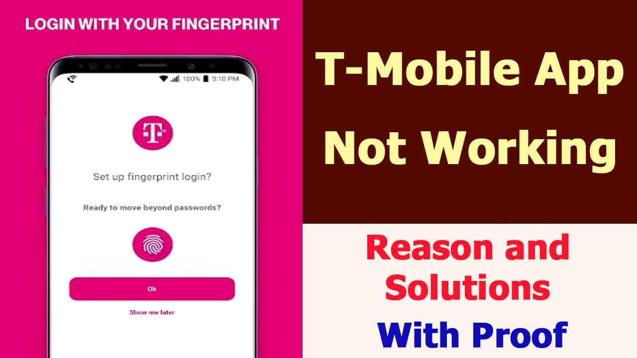 T-Mobile App Not Working